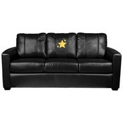 Silver Sofa with Gold Star Logo Panel