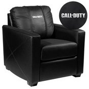 Silver Club Chair with Call of Duty Logo