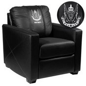 Silver Club Chair with Call of Duty West Top Level Faction Logo