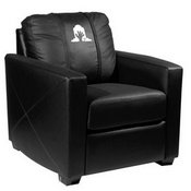 Silver Club Chair with Ghoulish Rising Hand Halloween Logo