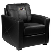 Silver Club Chair with Baltimore Ravens