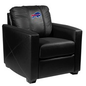 Silver Club Chair with Buffalo Bills