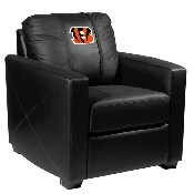 Silver Club Chair with Cincinnati Bengals