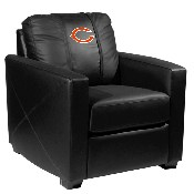 Silver Club Chair with Chicago Bears