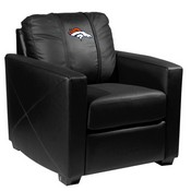 Silver Club Chair with Denver Broncos