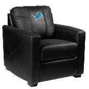 Silver Club Chair with Detroit Lions