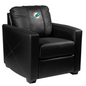 Silver Club Chair with Miami Dolphins