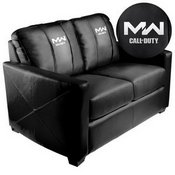 Silver Loveseat with Call of Duty Modern Warfare Icon Logo