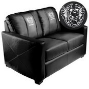 Silver Loveseat with Call of Duty Africanz Logo