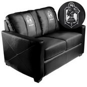Silver Loveseat with Call of Duty Demon Dogs Logo
