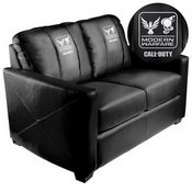 Silver Loveseat with Call of Duty Small Scale Faction Lock Up Logo