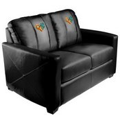 Silver Loveseat with Dechart Gaming Logo