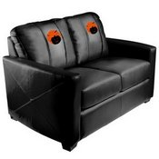 Silver Loveseat with The Great Zipchair Pumpkin Logo
