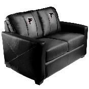 Silver Loveseat with Atlanta Falcons