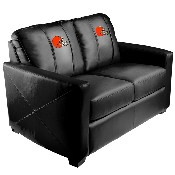 Silver Loveseat with Cleveland Browns