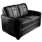 Silver Loveseat with Dallas Cowboys