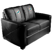 Silver Loveseat with Miami Dolphins