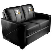 Silver Loveseat with Zipchair Gaming Logo