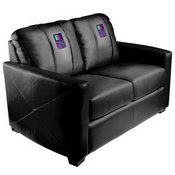 Silver Loveseat with Handheld System Logo