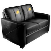Silver Loveseat with Gold Star Logo Panel