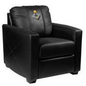 Silver Club Chair with Joystick Gaming Logo