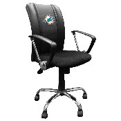 Curve Task Chair with Miami Dolphins