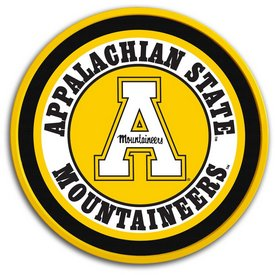 "Applachian State Mountaineers 17"" Team Disc Wall Sign-Primary Logo"