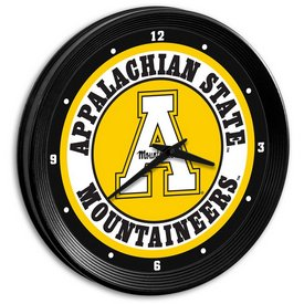 "Applachian State Mountaineers 15"" Team Spirit Ribbed Wall Clock-Primary Logo"