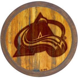 """Colorado Avalanche: Branded """"Faux"""" Barrel Top Sign"""