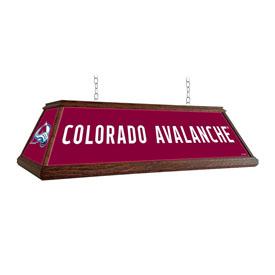 Colorado Avalanche: Premium Wood Pool Table Light