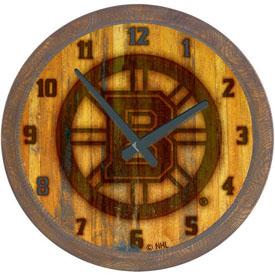 "Boston Bruins: Branded ""Faux"" Barrel Top Wall Clock"