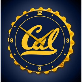 Cal Berkeley Golden Bears Team Spirit Bottle Cap Wall Clock