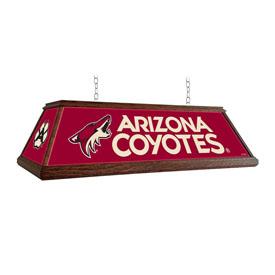 Arizona Coyotes: Premium Wood Pool Table Light