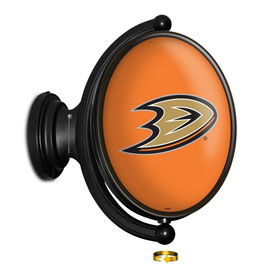 Anaheim Ducks: Original Oval Illuminated Rotating Wall Sign