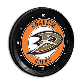 Anaheim Ducks: Ribbed Frame Wall Clock