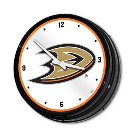 Anaheim Ducks: Illuminated Retro Diner Wall Clock