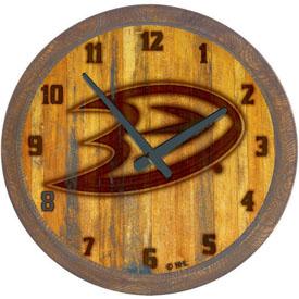 "Anaheim Ducks: Branded ""Faux"" Barrel Top Wall Clock"