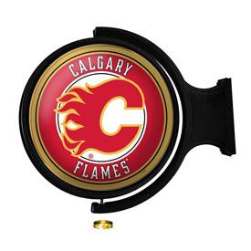 Calgary Flames: Original Round Illuminated Rotating Wall Sign
