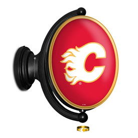 Calgary Flames: Original Oval Illuminated Rotating Wall Sign