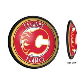 Calgary Flames: Round Slimline Illuminated Wall Sign