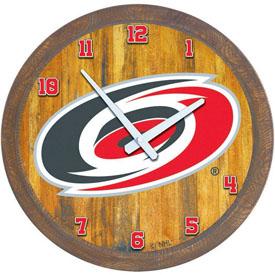 """Carolina Hurricanes: """"Faux"""" Barrel Top Wall Clock"""