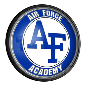 Air Force Academy Falcons: Round Slimline Lighted Wall Sign
