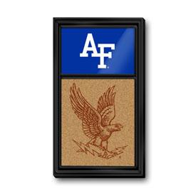 Air Force Academy Falcons: Dual Logos - Cork Note Board