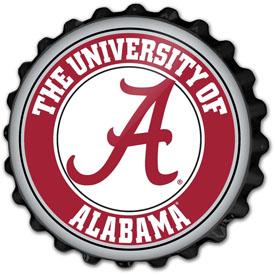 Alabama Crimson Tide: Bottle Cap Wall Sign