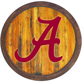 "Alabama Crimson Tide: ""Faux"" Barrel Top Sign"