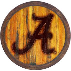 """Alabama Crimson Tide: Branded """"Faux"""" Barrel Top Sign"""