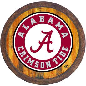 "Alabama Crimson Tide: School Seal - ""Faux"" Barrel Top Sign"
