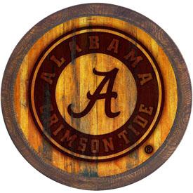 "Alabama Crimson Tide: School Seal - Branded ""Faux"" Barrel Top Sign"