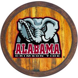 "Alabama Crimson Tide: Al Logo - ""Faux"" Barrel Top Sign"
