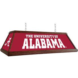 Alabama Crimson Tide: Premium Wood Pool Table Light